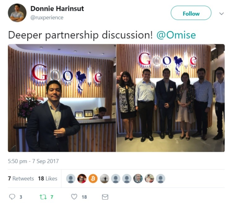 OmiseGo Google Partnership