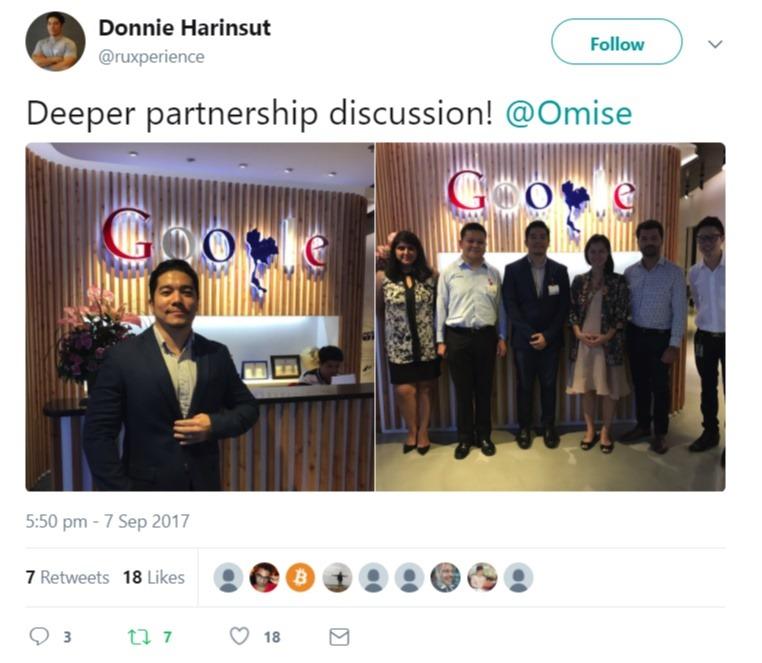 OmiseGo Google Partnership