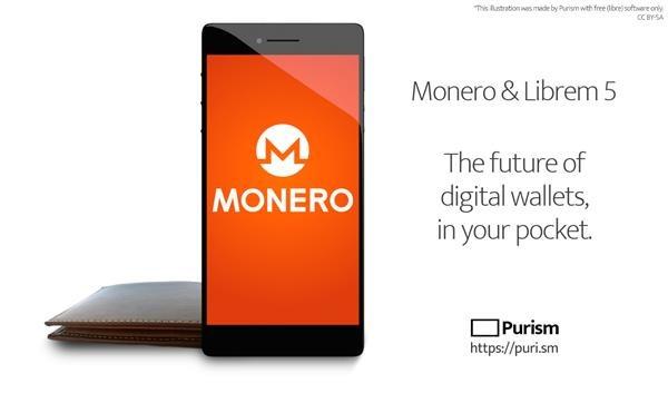 Purism Librem 5 phone adds Monero