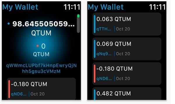 qtum iwatch wallet