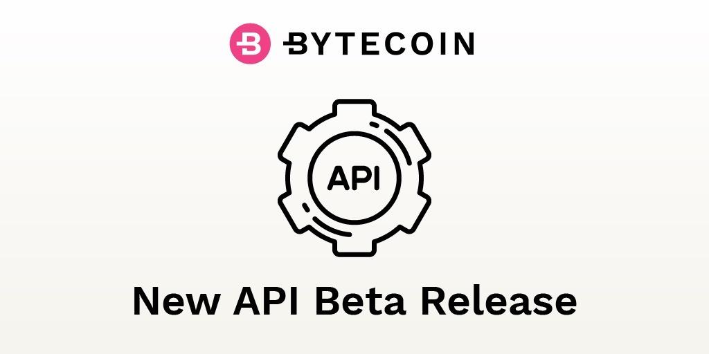Bytecoin new API release