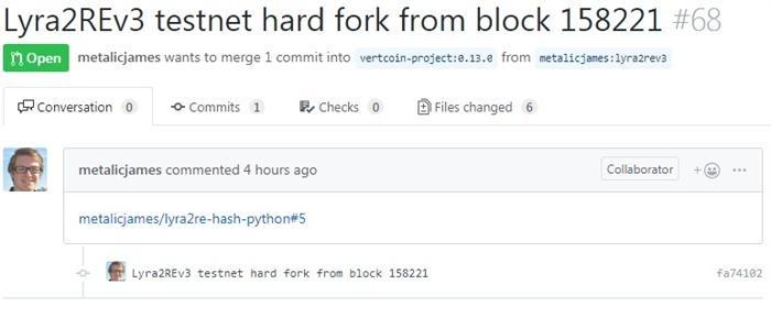 vertcoin hard fork