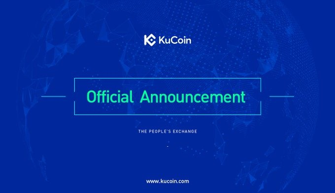 kucoin official announcement
