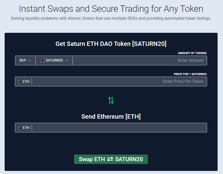 saturn network atomic swap