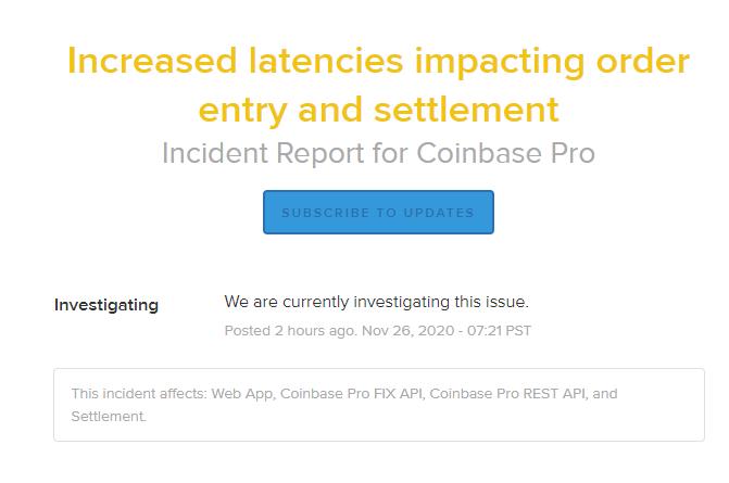 coinbase pro latency